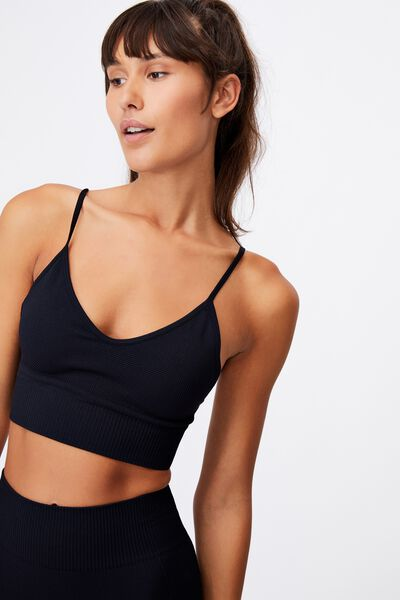 Lifestyle Seamless Crop, BLACK CHEVRON