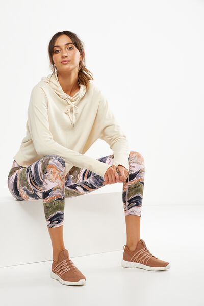 Bliss Longsleeve Sweat Top, LIMESTONE