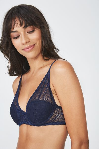 Grace Contour Balconette Bra, MIDNIGHT