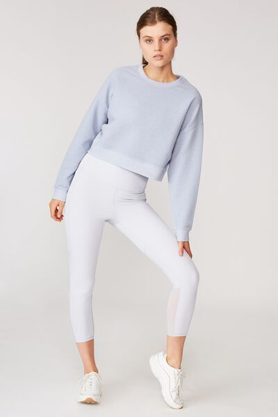 Jacquard Fleece Top, BALTIC BLUE