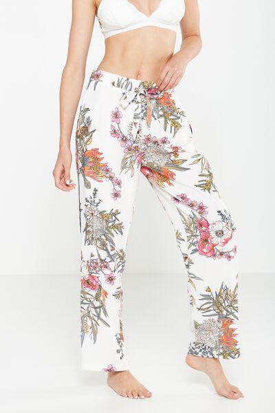 Love Pant, WHITE WILD FLOWER