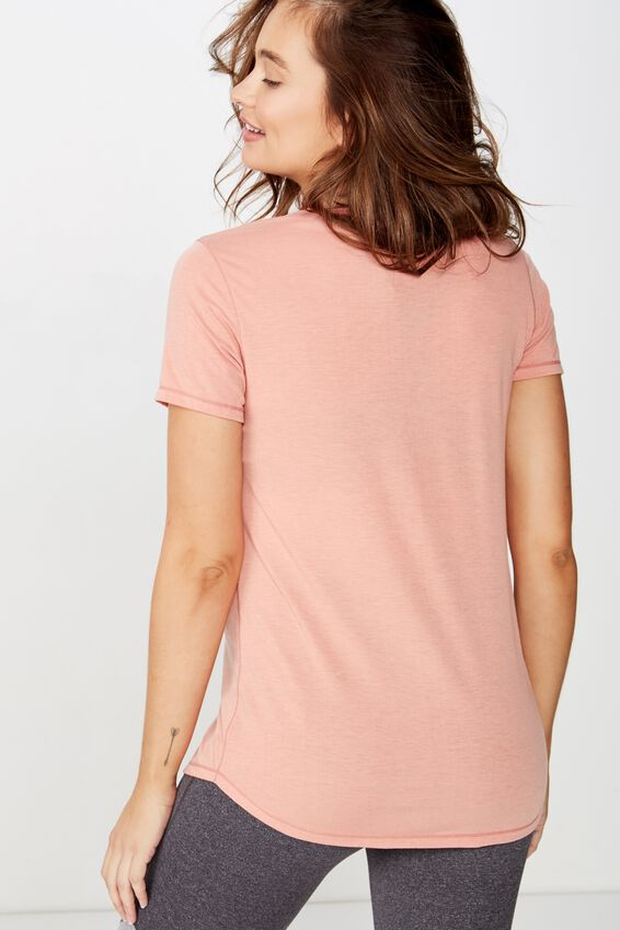 Maternity Gym T Shirt, CANYON CLAY