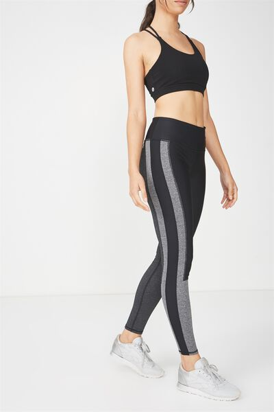 Colourblocked Tight, BLACK/CHARCOAL MARLE