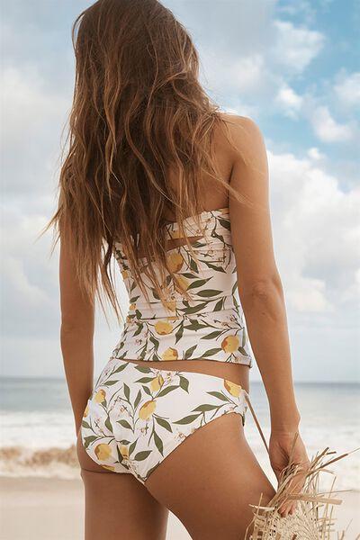 Selena Seamless Full Bikini Bottom, LEMON VINE