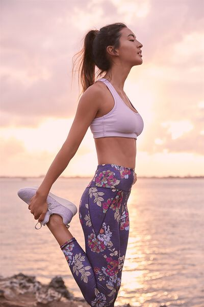 Workout Cardio Crop, ICY LILAC RIB