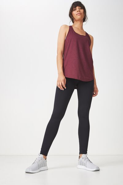 Training Tank Top, CRANBERRY MARLE