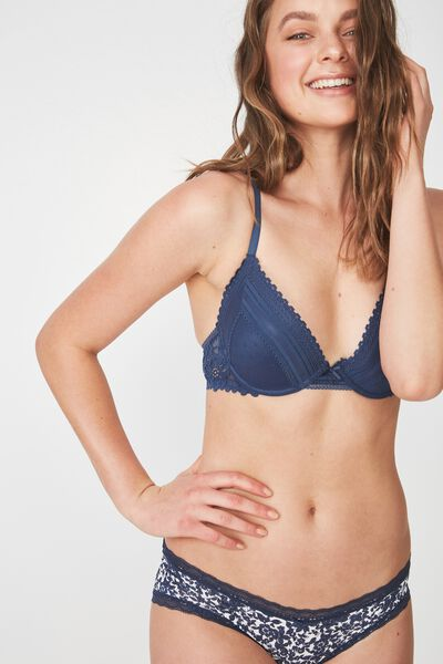 Stephanie Contour Bra, DARK STORM BLUE