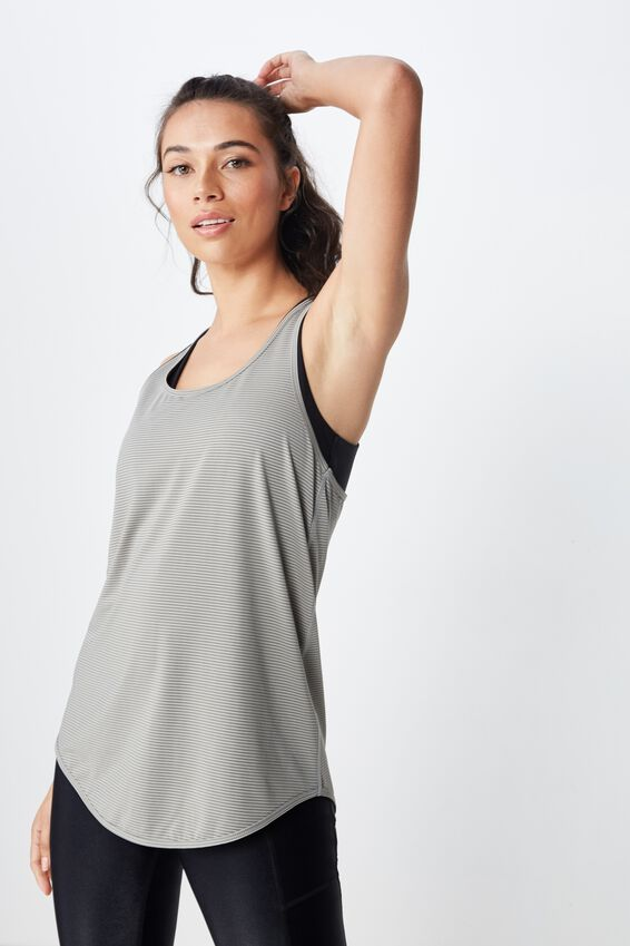 Training Tank Top, STEELY SHADOW STRIPE
