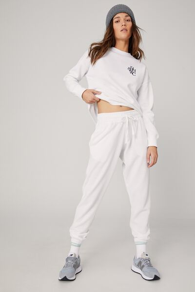 Lifestyle Gym Track Pant, WHITE