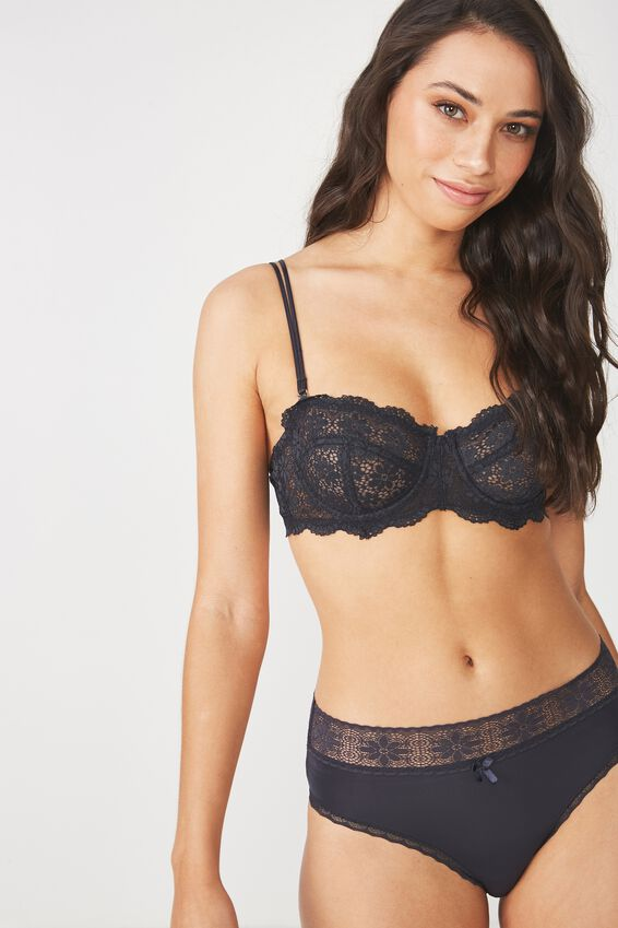 Jojo Unlined Strapless Bra, CHARCOAL