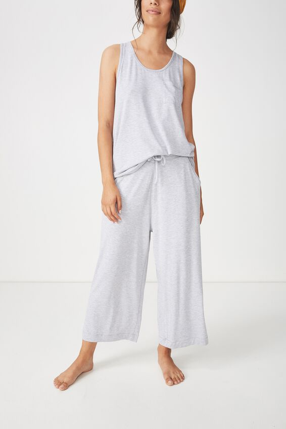 Sleep Recovery Culotte Pant, GREY MARLE