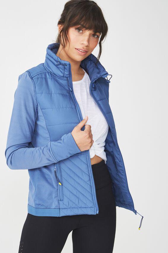 Active Slimline Puffer Jacket, MARINA BLUE