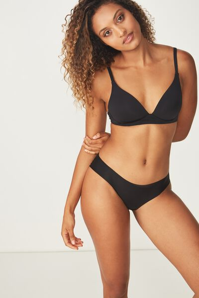 Wirefree Everyday T-Shirt Bra, BLACK