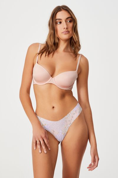 The Invisible G String Brief, DITSY PATCHWORK