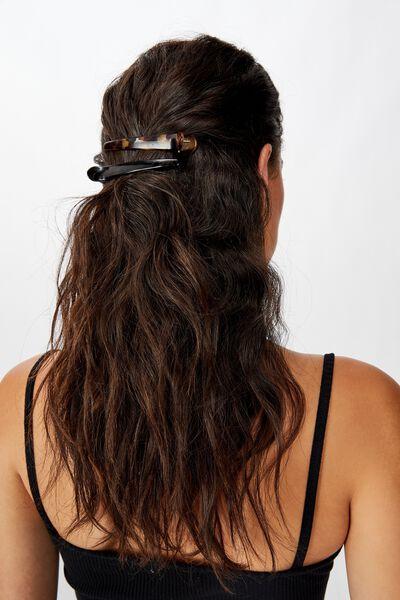2Pk Sally Salon Hair Clip, NEUTRAL