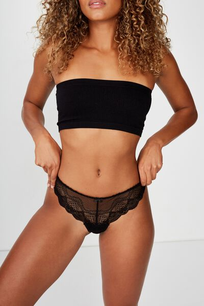 Cindy G-String Brief, BLACK