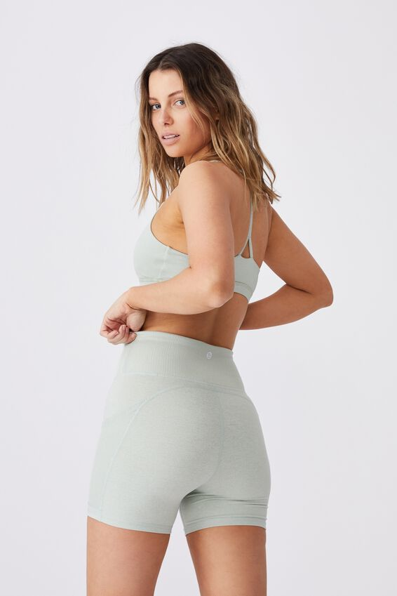 Lifestyle So Soft Highwaisted Shortie Short, MINT CHIP MARLE