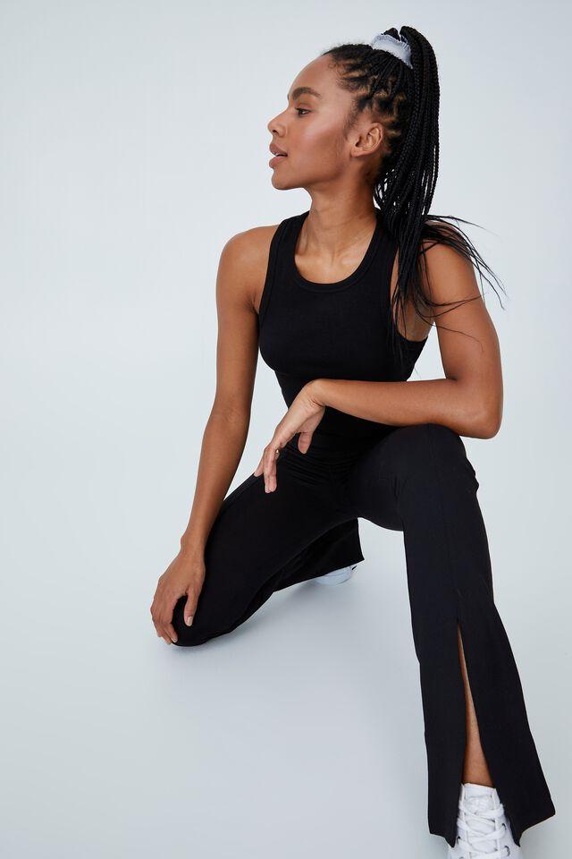 Highwaisted Yoga Flare, BLACK