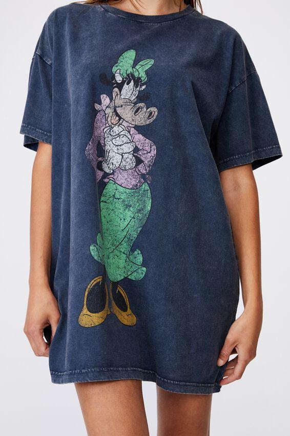 90 S Tshirt Nightie, LCN DIS CLARABELLE WASHED NAVY
