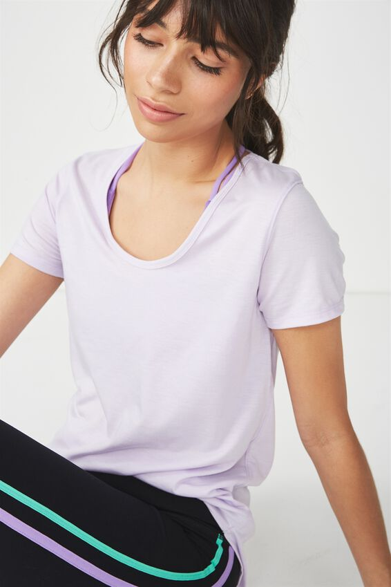 Gym T Shirt, ICY LILAC