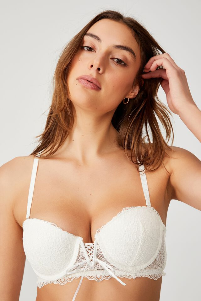 Fifi Lace Push Up2 Bustier, CREAM