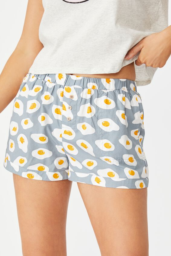 License Woven Short, LCN SAN GUDETAMA/FRIED EGG