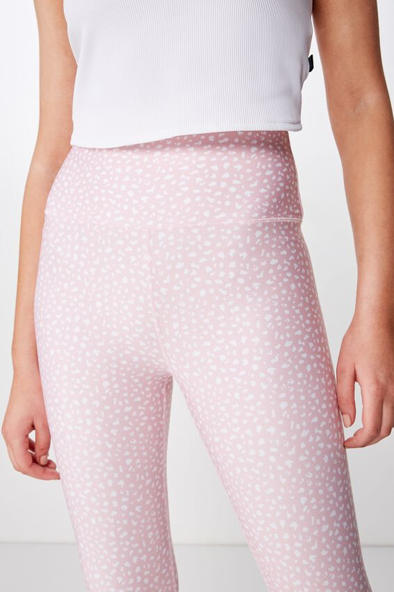 Ultimate Studio 7/8 Tight, SPECKLE SPOT PEONY PINK