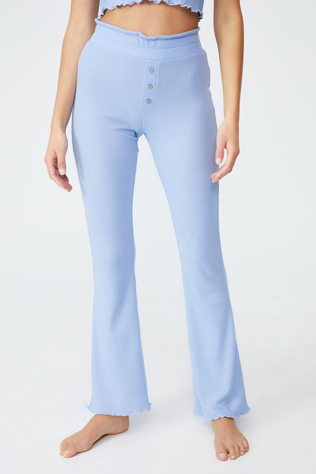 Bed Time Waffle Pant, CYAN BLUE