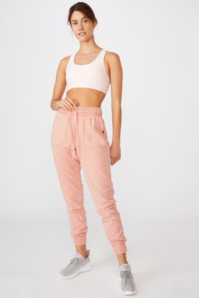Washed Gym Trackpant, PEACH PARAFAIT WASH