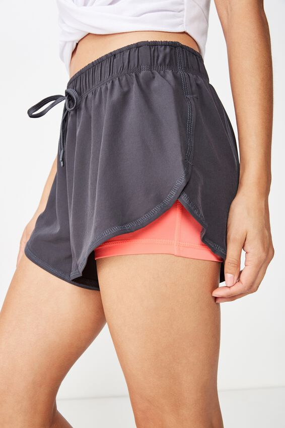 Move Jogger Short, NINE IRON/PINK PEACH