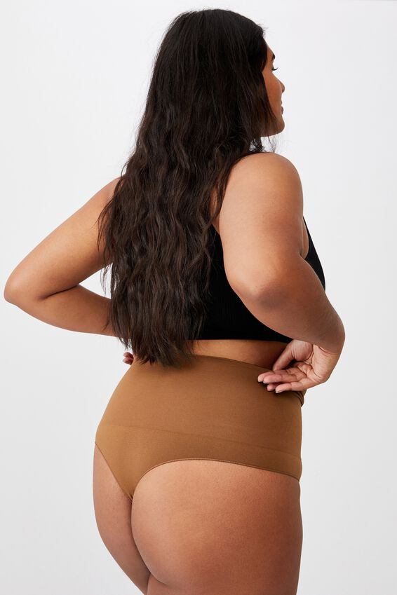 Take Control High Waist G String, CHOCOLATE MOUSSE