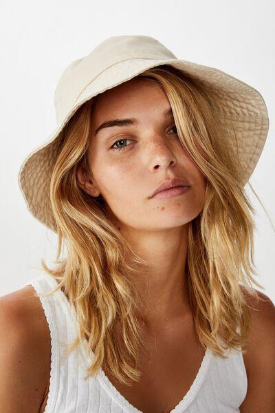 Bonnie Bucket Hat, ECRU