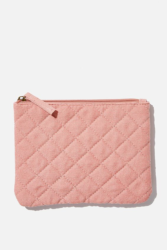 Sienna Cosmetic Case, DUSTY ROSE CORD