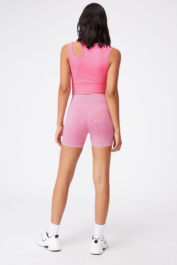 Lifestyle Seamless Yoga Short, AURORA PINK WASH