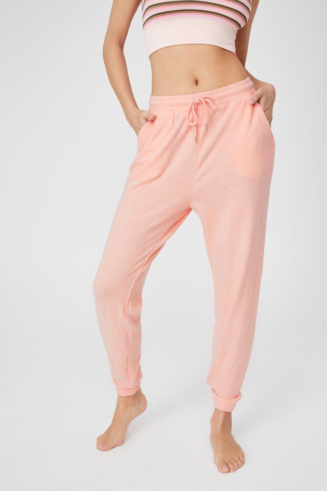 Super Soft Slim Cuff Pant, ROSE QUARTZ MARLE