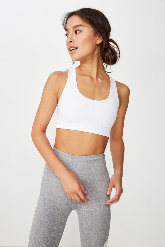 Workout Cardio Crop, WHITE TEXTURE