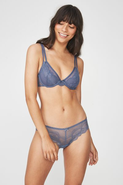 Cindy Brasiliano Brief, STORM BLUE