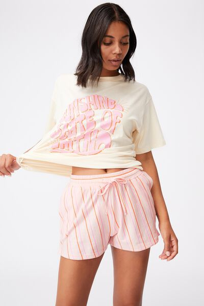 Jersey Sleep Short, MULTI STRIPE FAIRY TALE