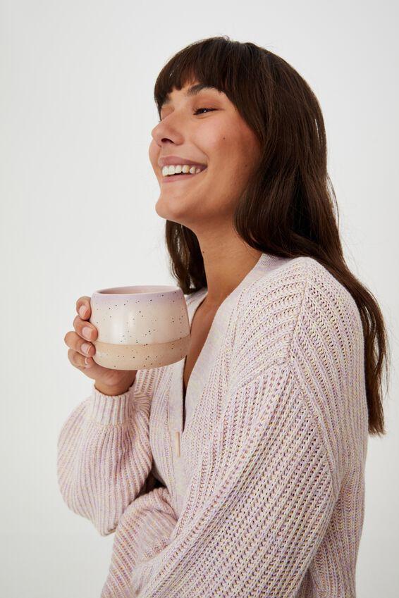 Tea For Two Mug, CHALKY LAVENDAR/ALMOND BUTTER