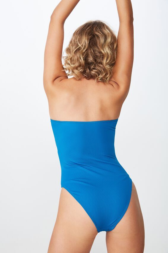 Molly Rib Strapless One Piece Cheeky, SEAPORT