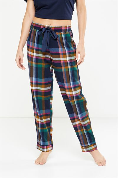 Non Cuffed Flannel Pant, FORREST CHECK