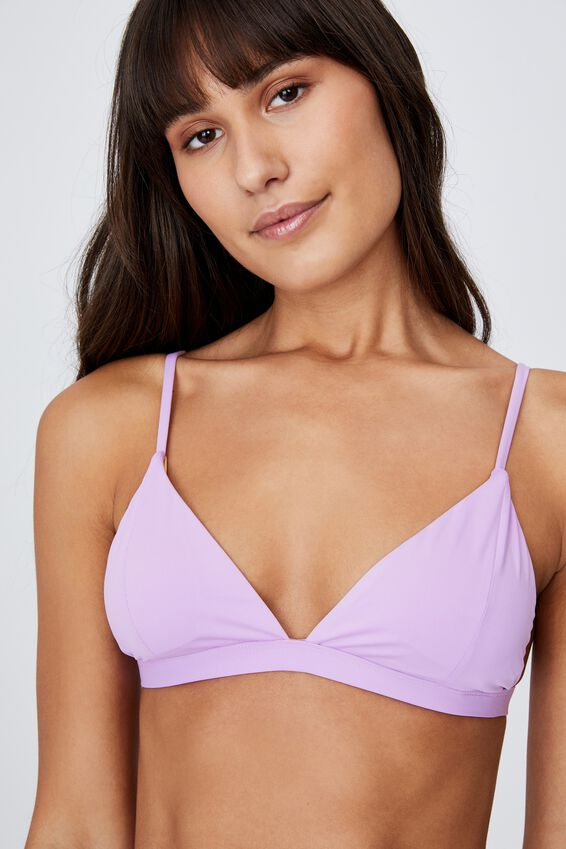 Fixed Triangle Bikini Top, VIOLET