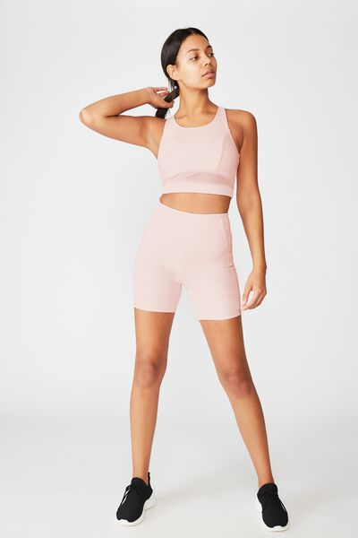 Rib Pocket Bike Short, PINK SHERBET RIB