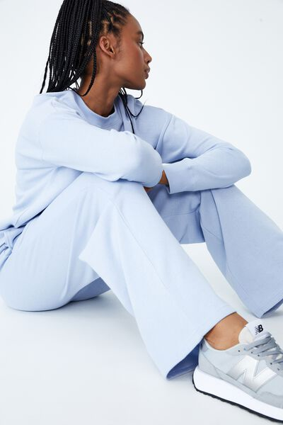 Lifestyle Wide Leg Trackpant, ICED SKY