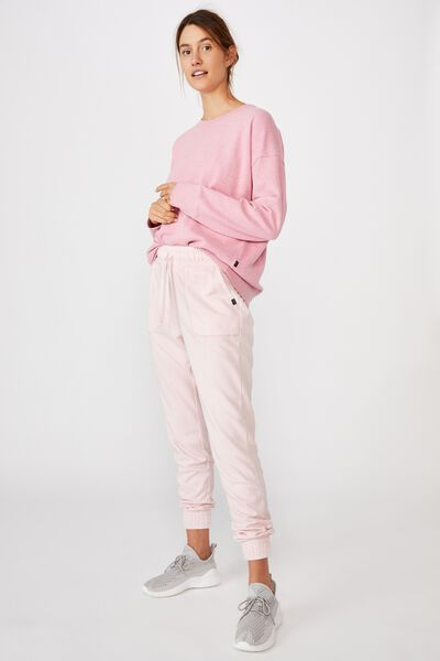 Washed Gym Trackpant, PINK SHERBET WASH