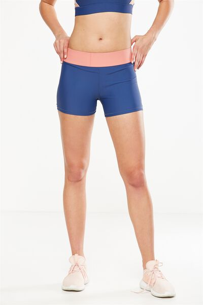 Active Gym Short, ALPINE BLUE/DUSTY CLAY