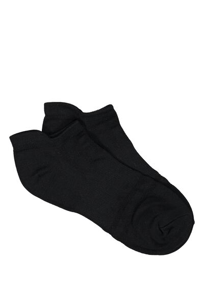 Active Tab Sock, BLACK