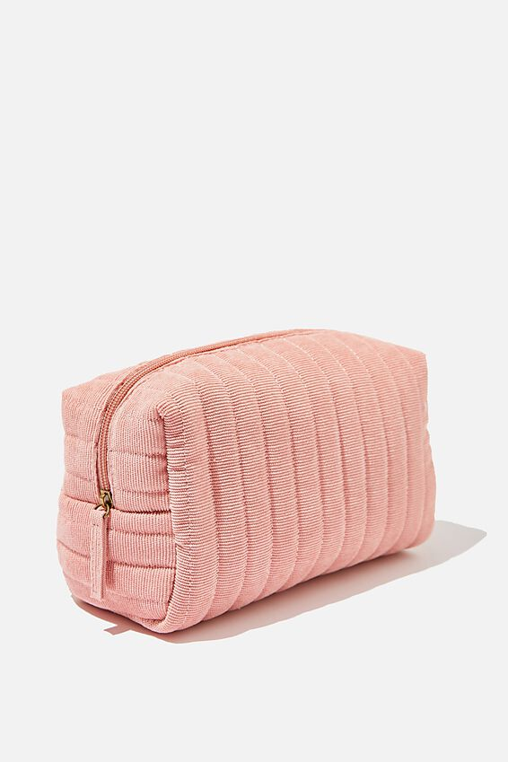 Marlee Cosmetic Case, DUSTY ROSE CORD