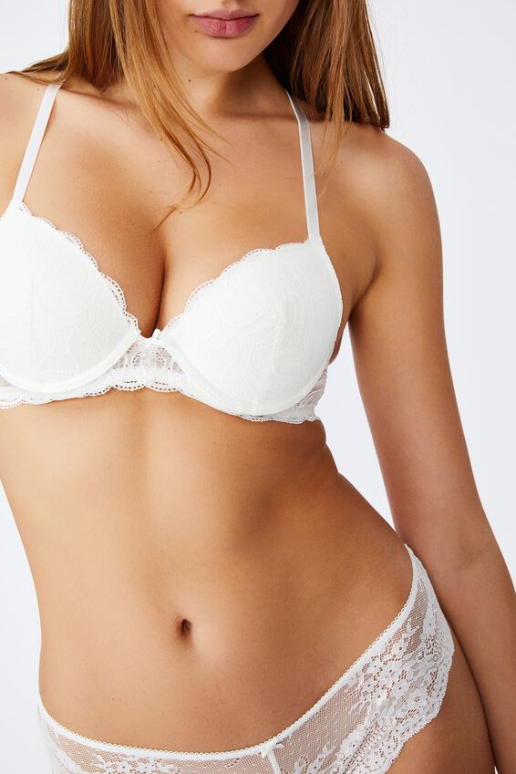 Summer Lace Contour Bra, CREAM