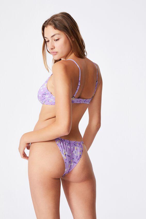 Half Wire Bralette Bikini Top, ORCHID MIST DITSY DAYS